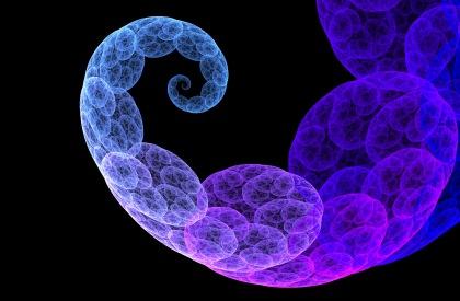 fractal blue loops